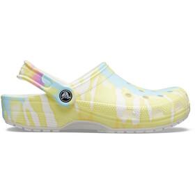 Crocs Classic Tie Dye Graphic Clogs, white/multi